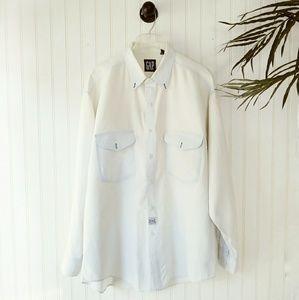 Vintage GAP Whitewash Chambray Button Down Shirt